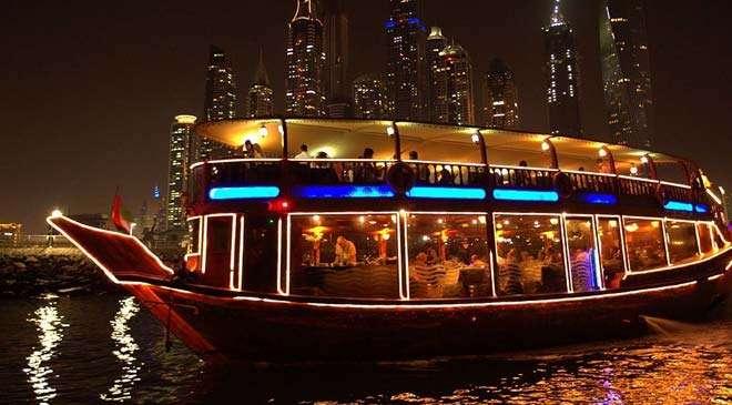 Dhow cruising in Dubai