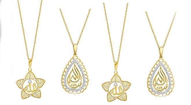 gold pendants in Dubai